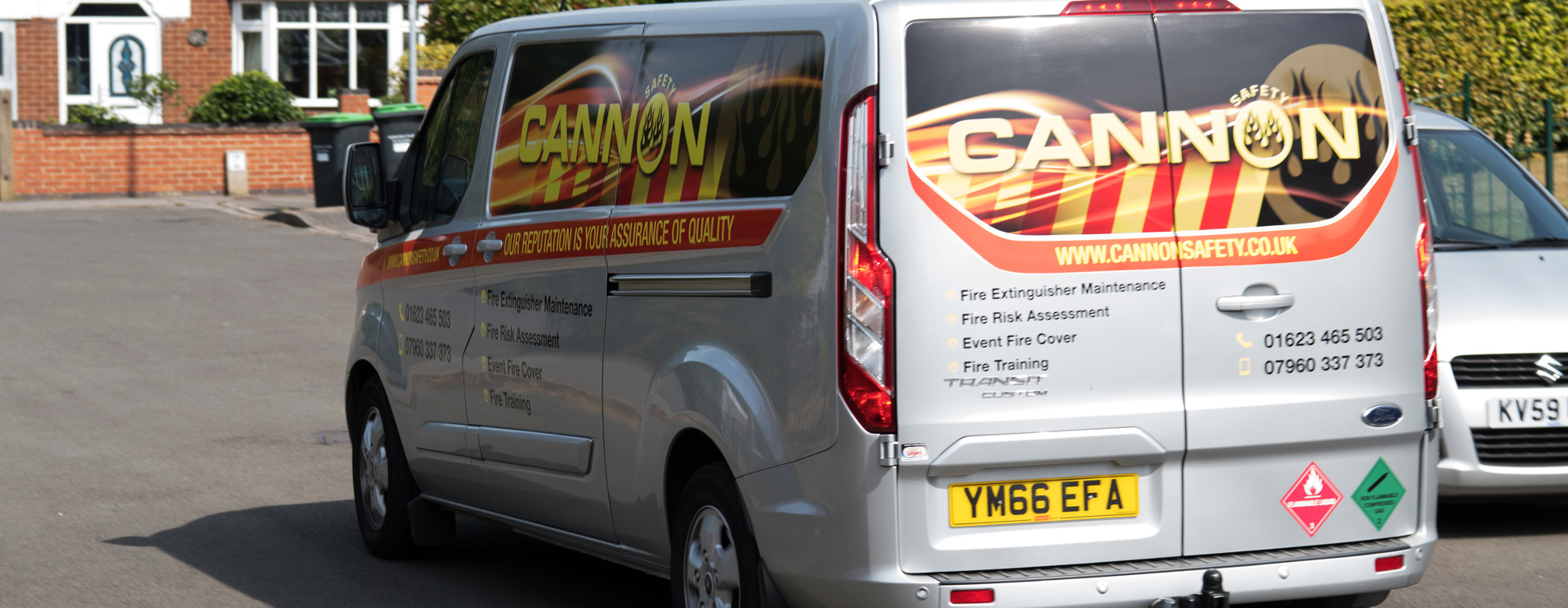 Cannon Safety van